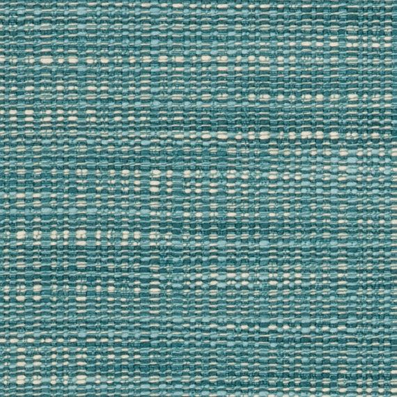 Teal Tweed Upholstery Fabric - Aqua Blue Textured Floor Pillow Ottoman Pouf…
