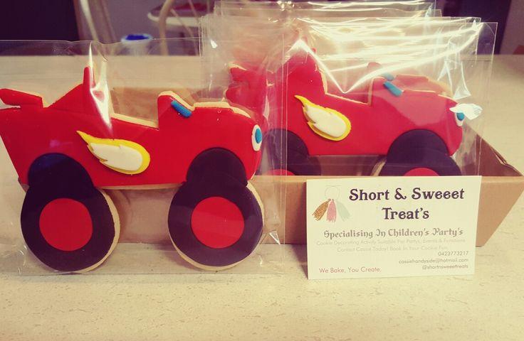 Blaze and the monster truck cookies www.facebook.com/shortnsweeettreats