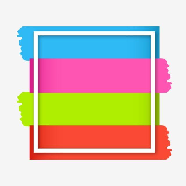 الفن لون الطلاء السكتة الدماغية على برواز مربع خلاصة الاكريليك فن Png والمتجهات للتحميل مجانا Colorful Art Painting Paint Colors