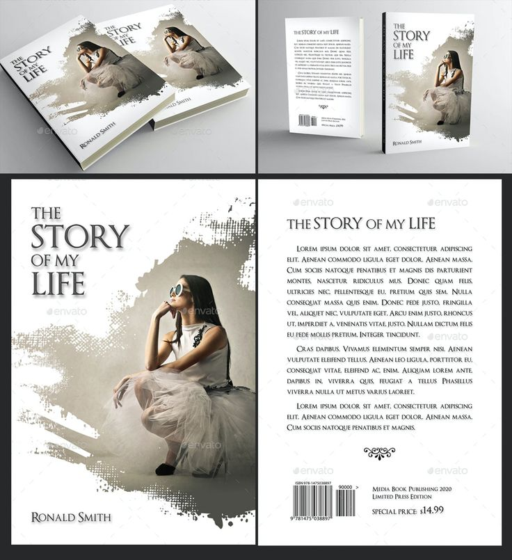 Book cover template 72 in 2021 book cover template