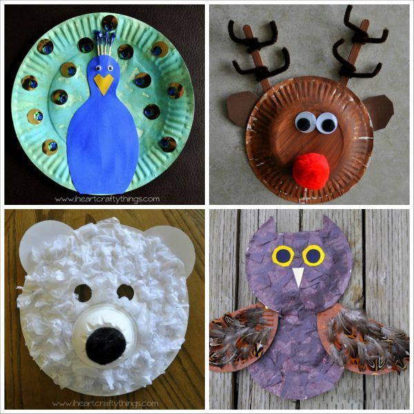 http://iheartcraftythings.com/20-paper-plate-animal-crafts-for-kids.html