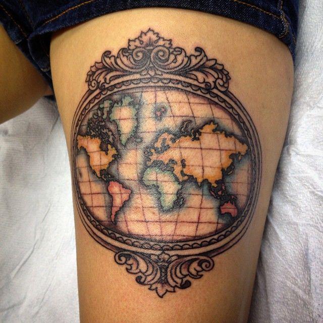 Best 25+ World Map Tattoos Ideas On Pinterest