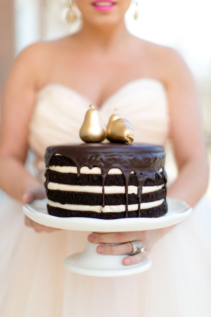 Salted Caramel Chocolate Ganache Cake