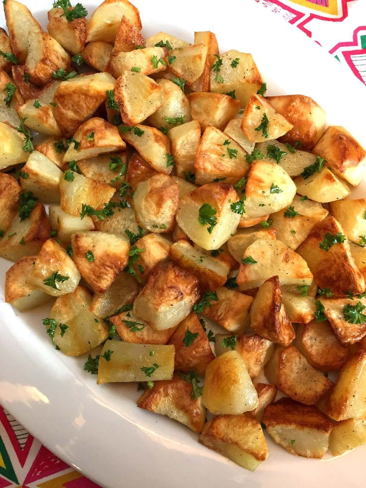 These oven roasted potatoes are amazing! Perfectlygolden brown and crispy on the outside, tender on the inside - this is the best roasted potatoes recipe ever! There are so many way to make potatoes - baked, mashed, smashed, boiled, grilled, fried, slow cookedand evenmicrowaved- but my most common cooking method of cooking potatoes is roasting them in the oven. I love making oven roasted potatoes for three main reasons: 1. Simplicity Oven roasted potatoes are very easy to make. All you…