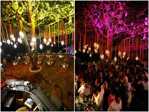 color uplight trees,indoor party - Google Search