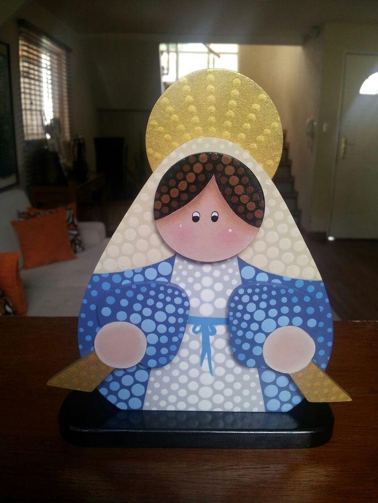 Virgen de la Milagrosa en puntillismo