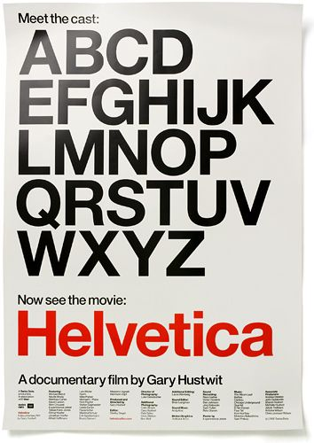poster for Helvetica a documentary by Experimental Jetset