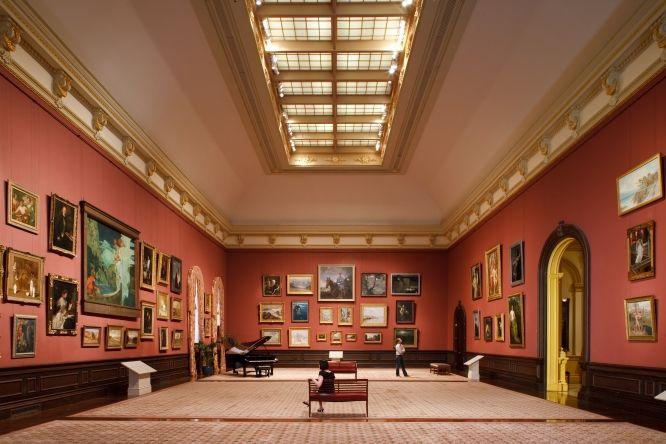 Salon-Style Hanging    Renwick Gallery - Grand Salon. Photo: Ron Blunt via Smithsonian Institution
