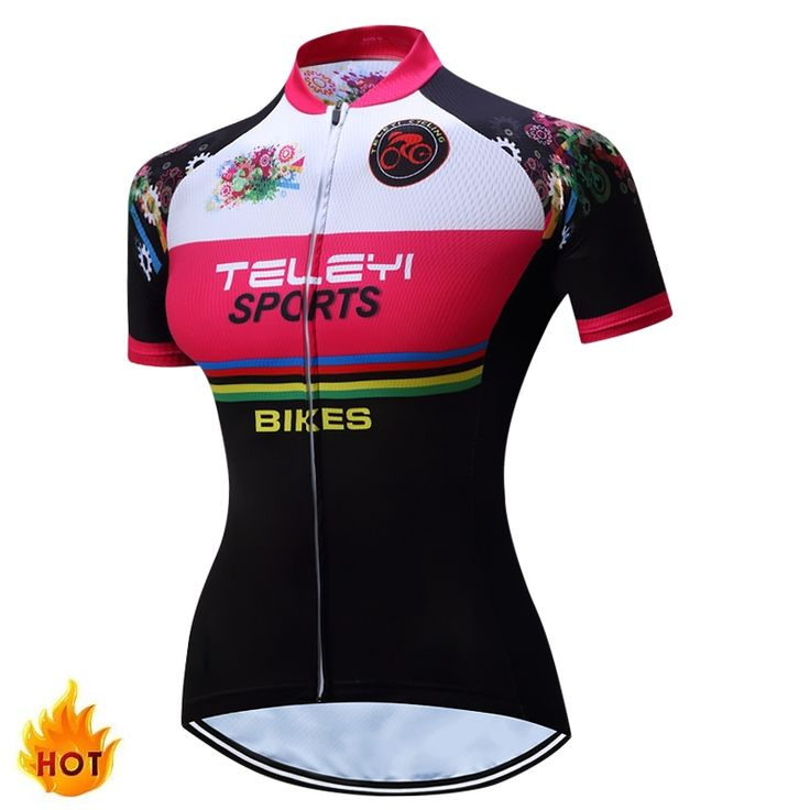 TELEYI Caitlin Summer Breathable Women Mountian Bike Clothing Bicycle Clothes Ropa Ciclismo Girls Bike Shirt Cycling Jersey