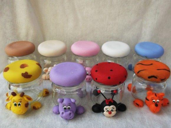 Potinhos de geleia biscuit, lembrancinhas de aniversario Prazo de 30 dias, consulte prazo de entrega.. R$5,00