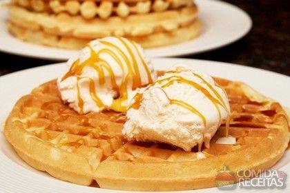 Receita de Waffle doce light em receitas de biscoitos e bolachas, veja essa e outras receitas aqui!