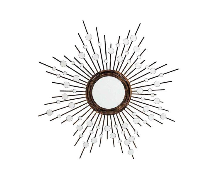 Зеркало Golden Aster - металл - золотой - Д131хШ7хВ131 | Westwing Интерьер & Дизайн