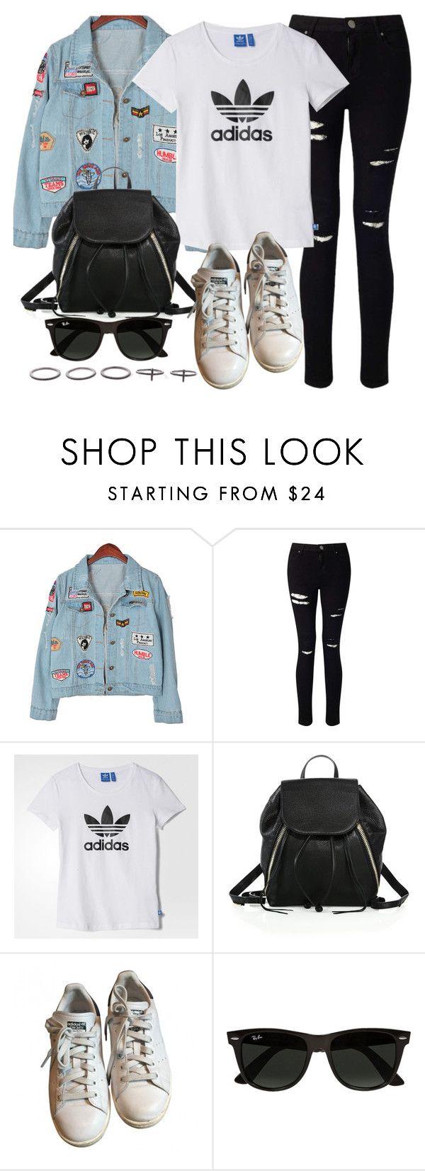 """Style #11051"" by vany-alvarado ❤ liked on Polyvore featuring Chicnova Fashion, Miss Selfridge, adidas, Rebecca Minkoff, Ray-Ban and Luxury Fashion"