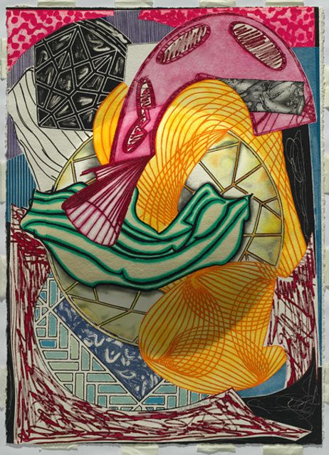 Frank Stella |  The Cabin, Ahab and Starbuck (from Moby Dick engravings) (1992) | Available for Sale | Artsy