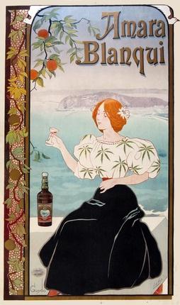 Beautiful Art Nouveau poster.