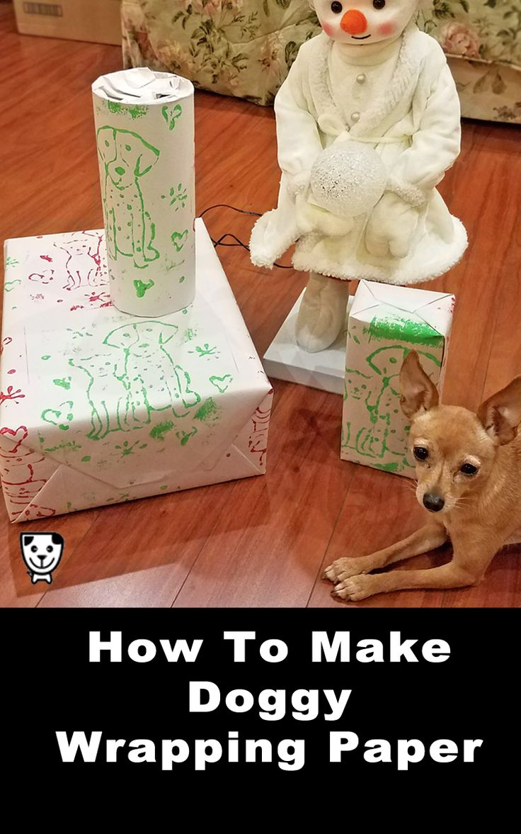 Try something new for your gifts this holiday season! Your friends and family will love this DIY wrapping paper with adorable cartoons of your dogs. #crafts #christmascrafts #holidaygiftguide