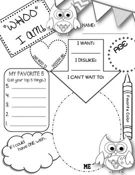 Printables Free Printable All About Me Worksheet 1000 ideas about all me poster on pinterest owl themed printable