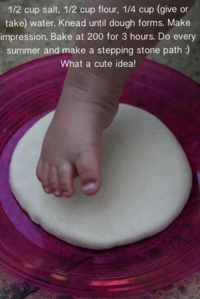 this is so cute! Preserve your little one's footprints in garden stepping stones.