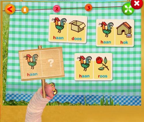 Een rijm en letterspel van koekeloere schooltv.