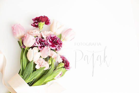 Fresh Flowers Feminine Styled Stock Photography Branding