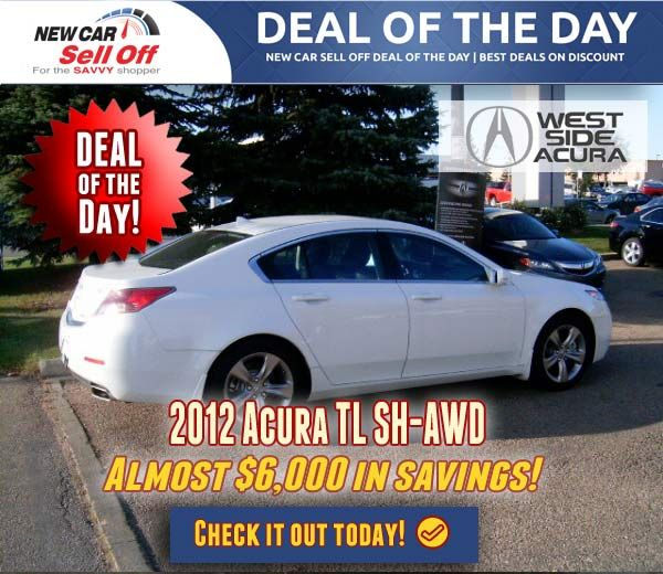 2012 Nissan Versa Hatchback S Today's Deal of the Day is a 2012 Acura TL SH-AWD with Almost $6,000 in dealer discounts! Don't miss out on this opportunity to get a 2012 Acura TL SH-AWD at an amazing price!