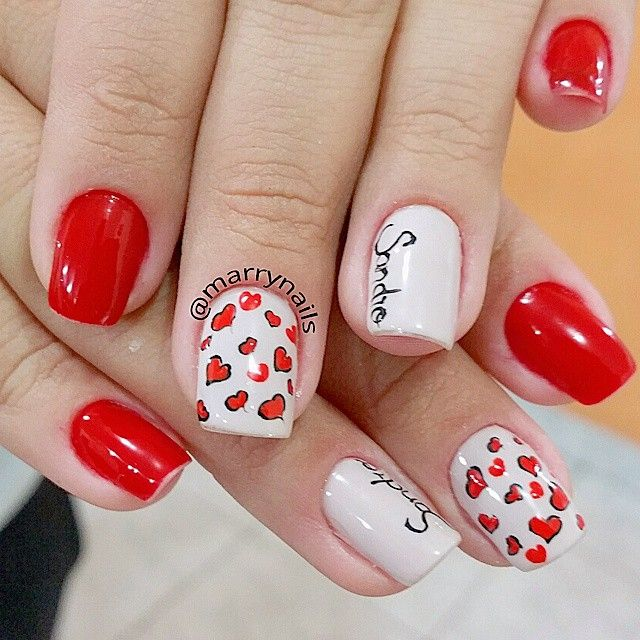 """Super dica de unha para o dia dos namorados! ❤❤"" Photo taken by @marrynails on Instagram, pinned via the InstaPin iOS App! http://www.instapinapp.com (06/12/2015)"