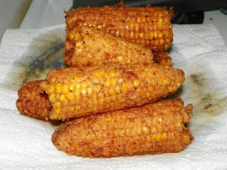 Southern Style Fried Corn on the Cob. Ok I know it sounds crazy. But its sooo good. Used to stop at convenient stores traveling thru Tennessee and Arkansas n this was my fave thing to look forward to on those trips!