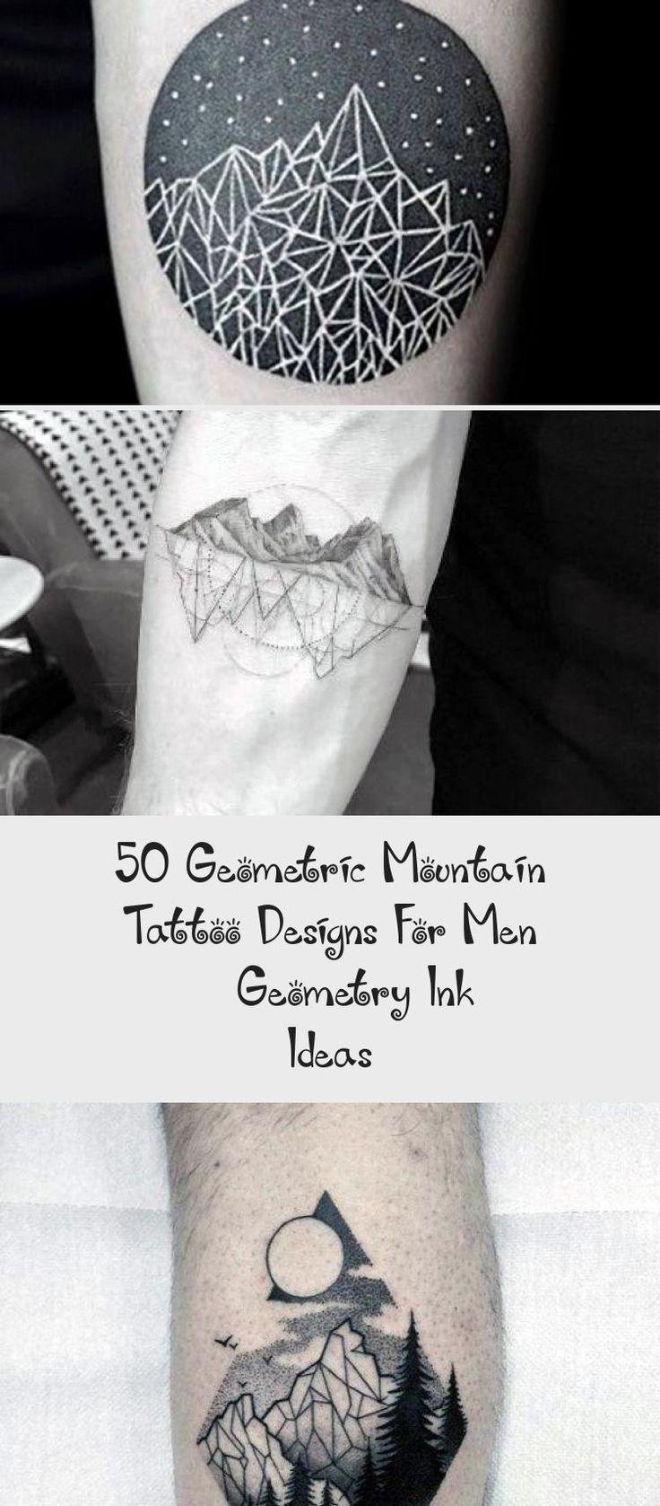 50 Geometric Mountain Tattoo Designs For Men Geometry