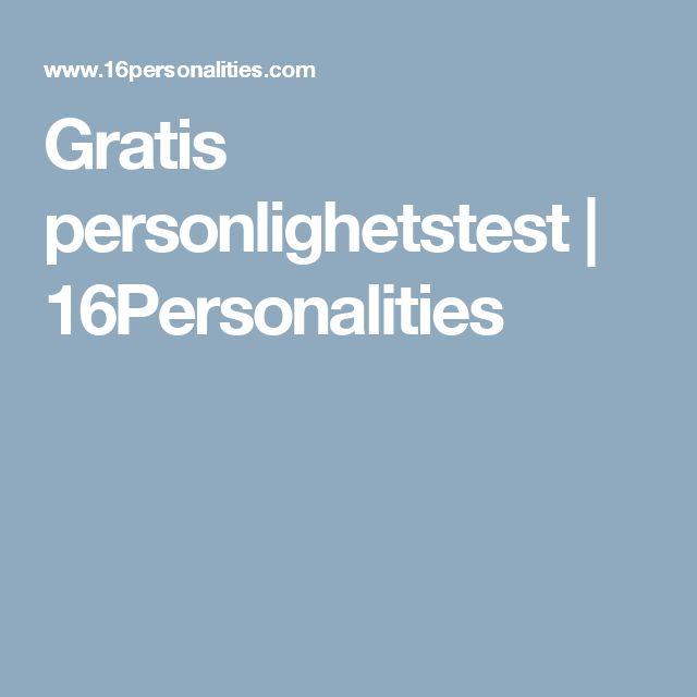 Gratis personlighetstest           | 16Personalities