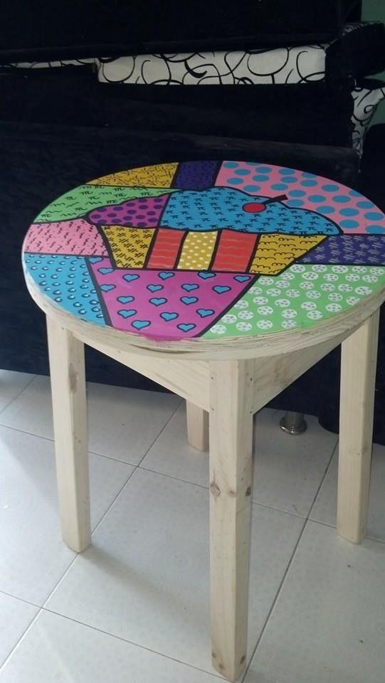 Pintura sobre mesa
