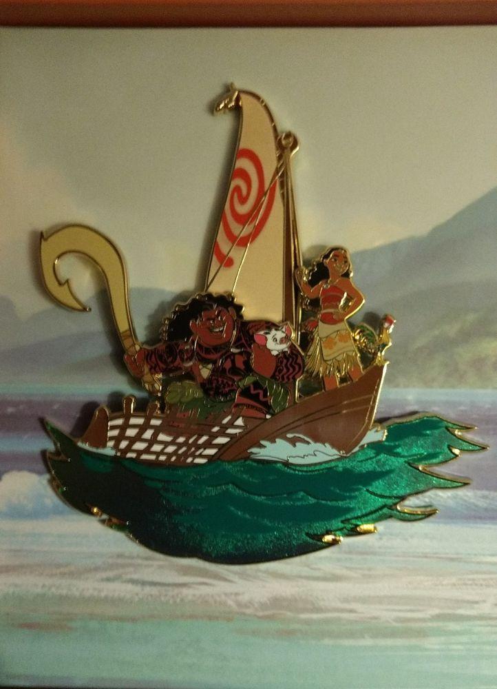 Walt Disney Imagineering WDI D23 Moana Jumbo Boxed Pin LE 150 Maui Destination D