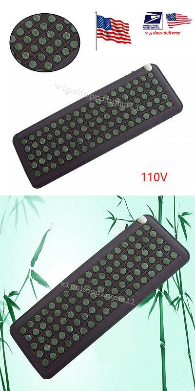Massage Stones and Rocks: Us Fast Shipping Natural Jade Tourmaline Stones Infrared Heating Mat Portable -> BUY IT NOW ONLY: $104 on eBay!