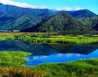 Pelorus Sounds, Marlborough, New Zealand (this shot from outside of Havelock where the Pelorus River meets the sea)