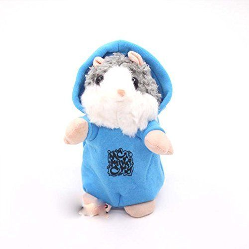 Mimicry Talking Hamster Mouse Electronic Toy Interesting Cartoon Record Hamster Sound Recording Repeat What You Say Plush Toys Gift(Blue). #Mimicry #Talking #Hamster #Mouse #Electronic #Interesting #Cartoon #Record #Sound #Recording #Repeat #What #Plush #Toys #Gift(Blue)