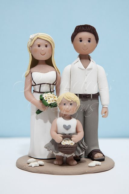 Beach Theme Wedding Cake Topper by Rouvelee's Creations, via Flickr