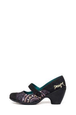 Desigual Women's Desire pumps. Very cool Mary Janes. Heel height: 6 cm. / 2.3
