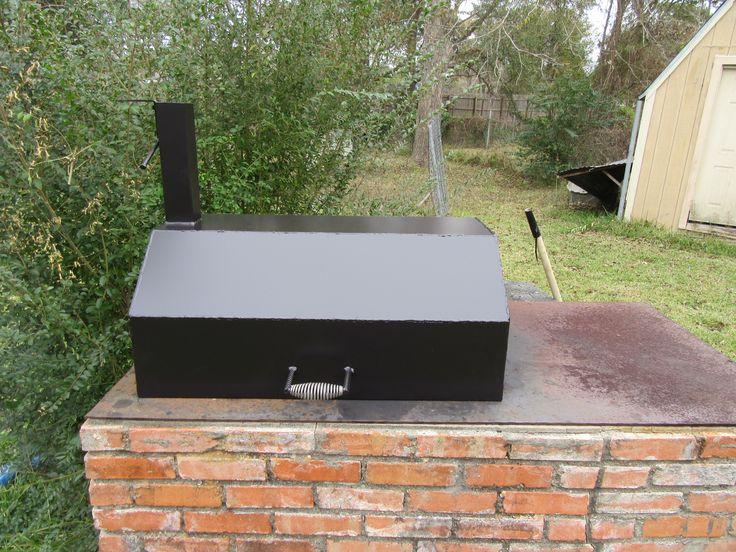 Lid built for a brick bbq pit