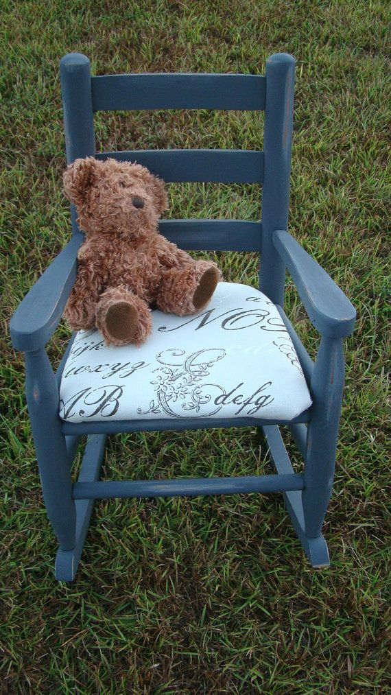 Upcycled Toddler Rocking Chair by ConceiveOf on Etsy, $94.00