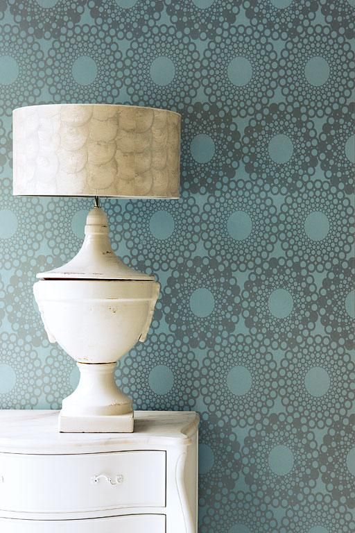 """""""Ouverture"""" from Rasch Textil the circle ornament is classic and retro, yet modern."""