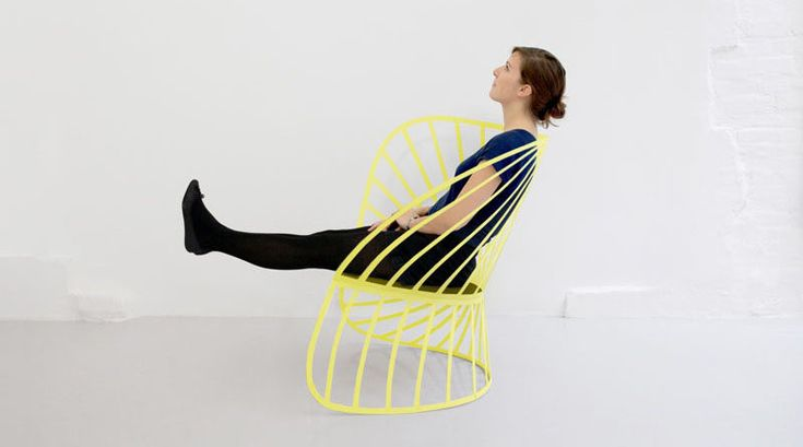 Furniture Ideas - 14 Awesome Modern Rocking Chair Designs // This slightly uneven chair gives it the ability to rock softly back and forth.