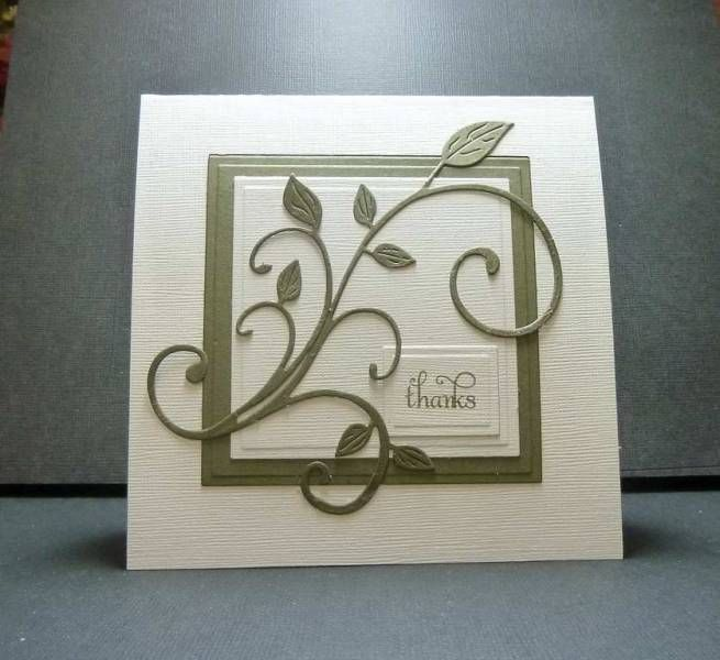 elegantly simple!.... and another use of the Cheery Lynn fanciful flourish die (I've got to get this die!)
