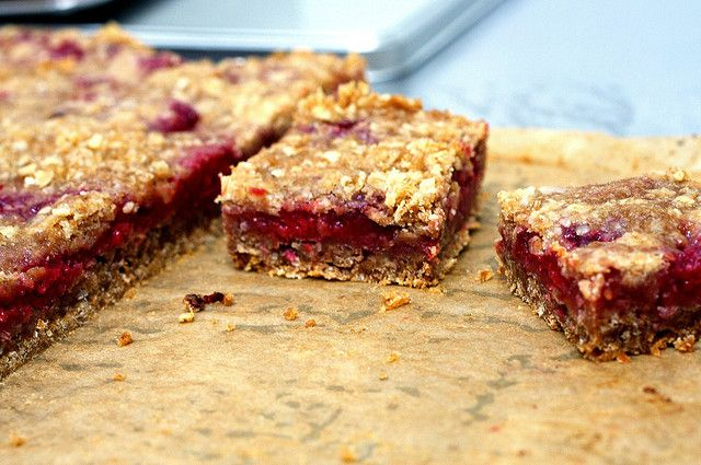 raspberry breakfast bars by smitten | Food - Breakfast | Pinterest ...