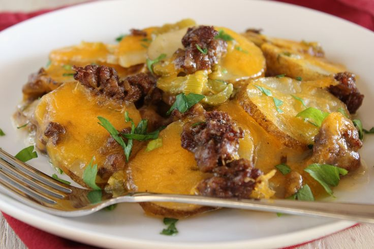 Kittencal S Scalloped Potato And Ground Beef Casserole