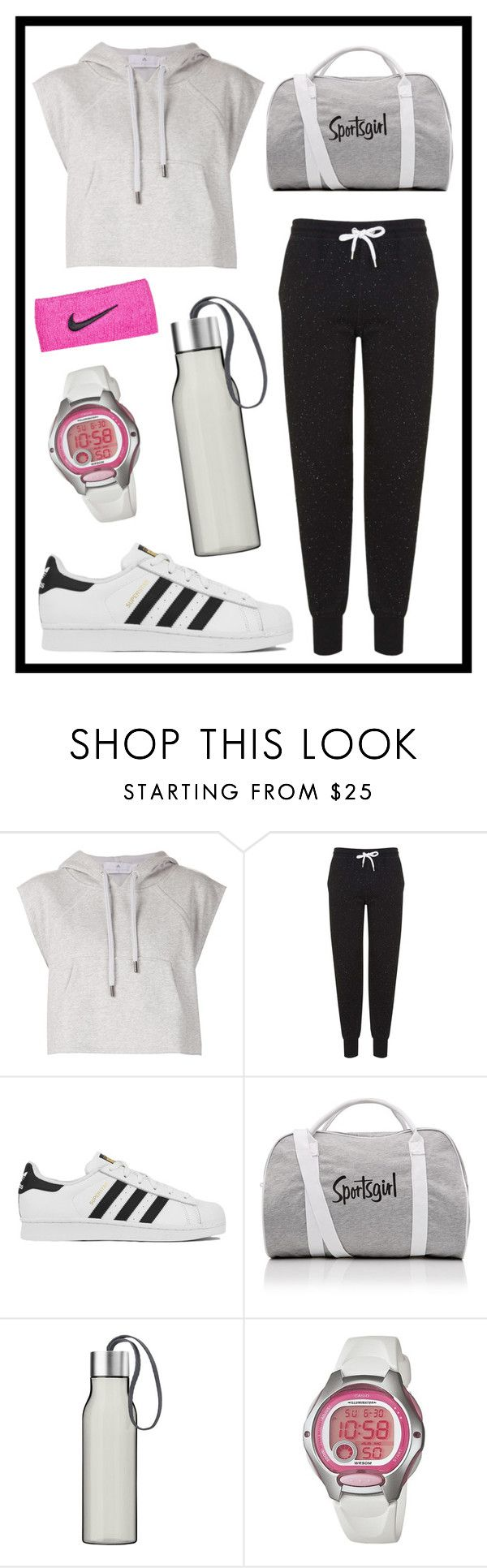 """""""#384 sportsgirl"""" by xjet1998x ❤ liked on Polyvore featuring adidas, Topshop, Eva Solo, Casio and NIKE"""