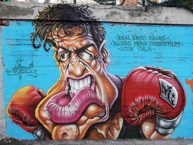 Great Street Art....Rocky mama said knock you out, I'm gonna knock you out...