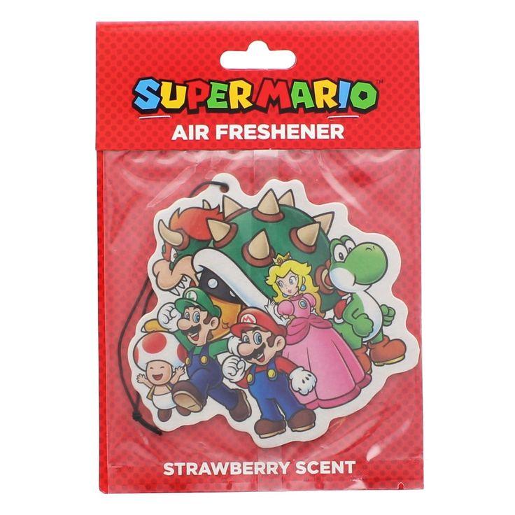 Super Mario Bros. Group Air Freshner, Strawberry - multi