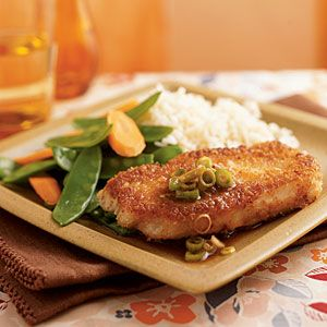 Superfast Asian Recipes | Wasabi and Panko-Crusted Pork with Gingered Soy Sauce | CookingLight.com