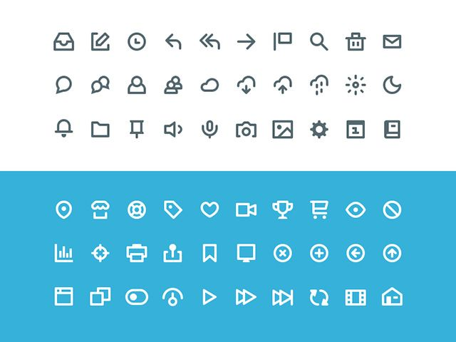 Vicons is a set including 60 small icons based of a 16-18px grid. Free PSD designed and released by Victor Erixon.