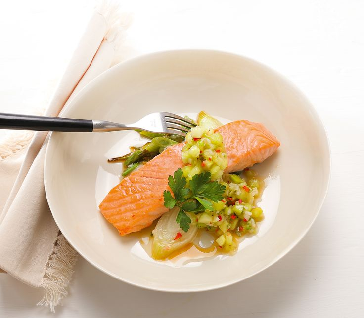 Die Kombination aus Melonen, Gurken, Chili und Ingwer sorgt für ein süss-scharfes Geschmackserlebnis – zum Fisch ein Traum.