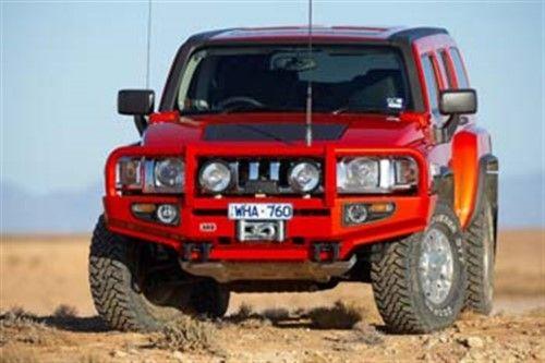 Arb 4x4 Accessories 3468020 Front Deluxe Bull Bar Winch Mount Bumper Fits H3 Black Hummer Hummer H3 Bull Bar